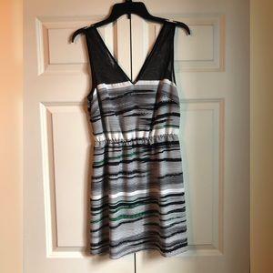 Petticoat Alley Sleeveless Striped Dress Mesh